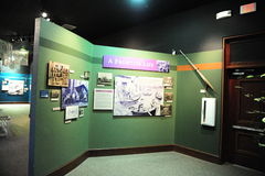 Экспонат жизни границы на депо поезда перепада культурном, Helena Арканзасе Стоковое Изображение RF