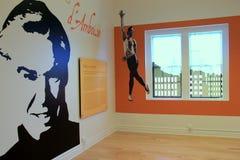 Экспонат известного танцора, d'Amboise Jacques, Национального музея танца и мемориала, Saratoga Springs, Нью-Йорка, 2015 Стоковое фото RF