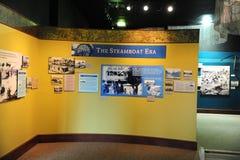 Экспонат на депо поезда, Helena Арканзас эры парохода Стоковая Фотография RF