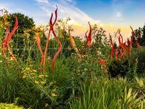 Экспонат сада Chihuly, Атланта Стоковое фото RF