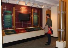 Экспонат судебной системы, образовательный центр посетителя, центр Огайо судебный, Верховный Суд Огайо, Колумбуса Огайо Стоковое Фото