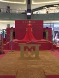 Экспонат Escada на моле Дубай в Дубай, ОАЭ Стоковое Изображение