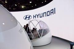 Экспонат Hyundai на CES 2019 стоковое фото rf