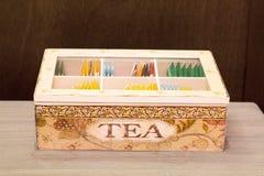 Экспонент пакетиков чая увиденных сверху стоковое фото