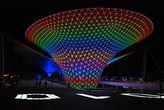 экспо часть 2010 ночи shanghai стоковое изображение rf