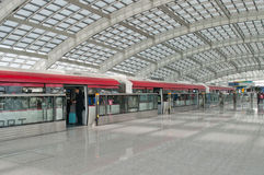 Экспресс авиапорта Пекина Стоковая Фотография