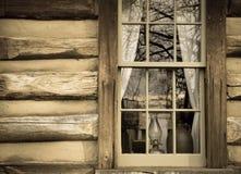 Экстерьер бревенчатой хижины Стоковые Фото