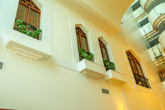 Экстерьер винтажного роскошного здания стоковое изображение