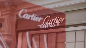 Экстерьер выхода Cartier сток-видео