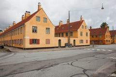 Экстерьер датских античных домов Стоковое Изображение