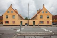 Экстерьер датских античных домов Стоковое Изображение RF