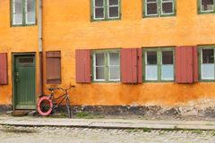 Экстерьер датских античных домов Стоковые Фото