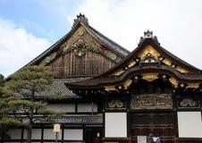 Экстерьер дворца Ninomaru замка Nijo Стоковые Фотографии RF