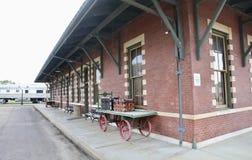 Экстерьер депо и музея железной дороги, Джексон Теннесси Стоковое Изображение RF