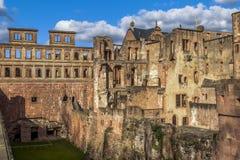 Экстерьер замка Гейдельберга Стоковое фото RF