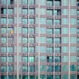 Экстерьер здания кондо, во время конструкции Стоковые Фото