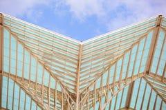экстерьер здания самомоднейший деталь зодчества самомоднейшая Стоковое Изображение RF