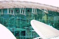 экстерьер здания самомоднейший деталь зодчества самомоднейшая Стоковое фото RF