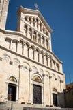 Экстерьер Ла Cattedrale Santa Maria на Кальяри, Сардинии Стоковое Изображение