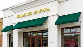 Экстерьер магазина розничной торговли Williams-Sonoma сток-видео