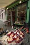Экстерьер магазина сидра Кальвадоса Стоковая Фотография