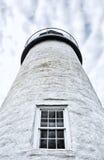 Экстерьер маяка Мейна пункта Pemaquid Стоковое Изображение RF