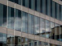 Экстерьер нового современного корпоративного здания Стоковое Изображение