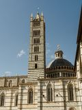 Экстерьер собора Сиены, Италии Стоковые Изображения RF