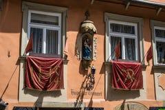 Экстерьер старого дома, который нужно барабанить на Бамберге, Германии Стоковые Фотографии RF