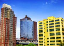Экстерьер стекла офисных зданий Нью-Йорка Стоковая Фотография RF