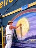 Экстерьер стены картины Люд-художника в Новом Орлеане Стоковое фото RF