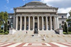 Экстерьер университетской библиотеки Колумбийского университета, верхнего Манхаттана, Нью-Йорка Стоковое Фото