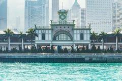 Экстерьер центральной пристани на времени дня стоковая фотография