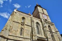 Экстерьер черной церков в старом городке Brasov Стоковые Изображения RF