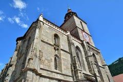 Экстерьер черной церков в старом городке Brasov Стоковое фото RF