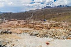 Экстерьер шахты Cerro Rico в Potosi, Bolivi стоковые изображения