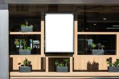 Экстерьер Gl украшения пустого знака ресторана современный современный Стоковое Фото
