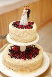 Экстракласс на свадебном пироге стоковая фотография rf