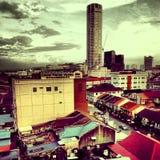 Экстренныйый выпуск вида на город Melaka красивый Стоковые Фото