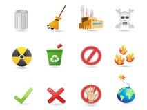 экстренныйый выпуск иконы eco конструкции Стоковое Изображение
