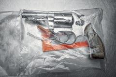 экстренныйый выпуск револьвера 38 личных огнестрельных оружий Стоковые Фото