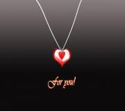 экстренныйый выпуск сердца медальона для вас Стоковые Изображения