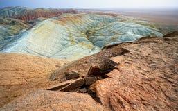 Эксцентричные горы в пустыне Стоковая Фотография