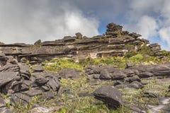 Эксцентричные старые утесы tepui Roraima плато - Венесуэла, Стоковые Изображения