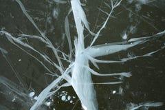 эксцентричный треснутый льдед Стоковые Фотографии RF