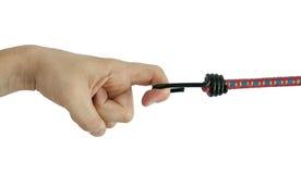эластичная веревочка удерживания руки Стоковые Изображения RF