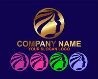 элегантная концепция логотипа спа иллюстрация вектора