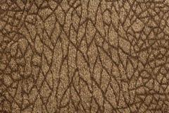 Элегантная коричневая текстура ткани с орнаментальной поверхностью Стоковое Фото