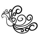 Элегантная птица, покрашенная с грациозно линиями с скручиваемостями бесплатная иллюстрация