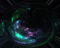 Элегантность абстрактного цифрового влияния фрактали живая, динамика иллюстрация вектора